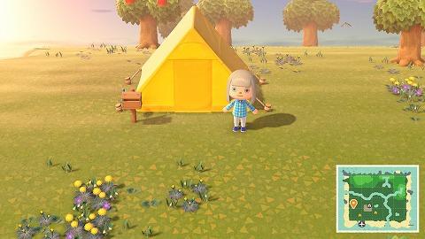 あつ森テント設置
