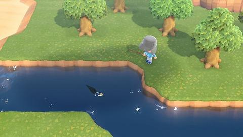 あつまれどうぶつの森魚を釣る