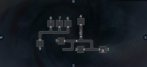 真女神転生3イケブクロ坑道B3Fマップ