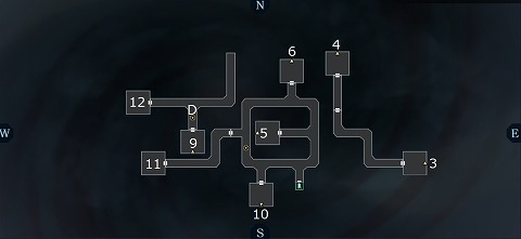 真女神転生3イケブクロ坑道B4Fマップ
