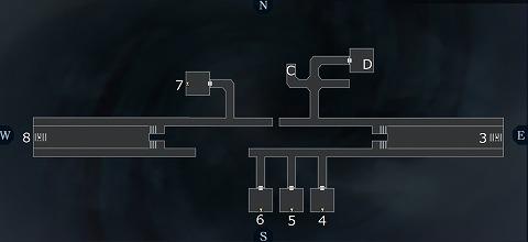 真女神転生3アサクサ坑道B2Fマップ