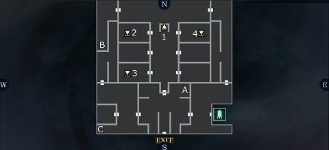 真女神転生黒い神殿1Fマップ