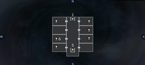 真女神転生3黒い神殿2Fマップ