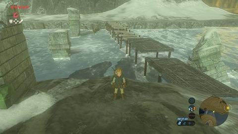ゼルダの伝説BotW始まりの台地黄泉の川の橋