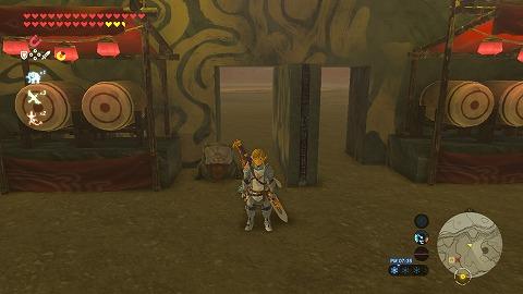 ゼルダの伝説BotWイーガ団のアジト隠し扉