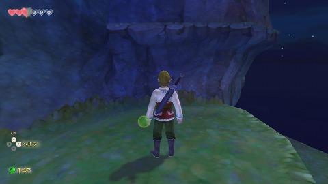 スカイウォードソード女神像の島01