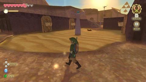 スカイウォードソードラネール砂漠流砂の像