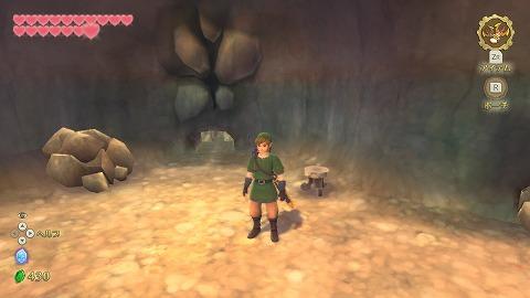 スカイウォードソードラネール洞窟穴