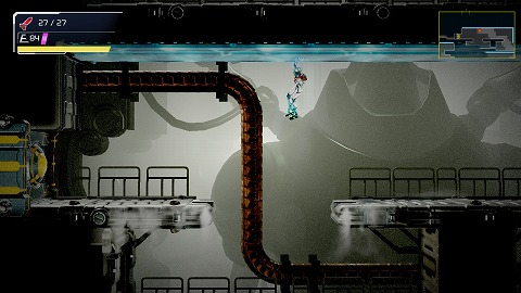 メトロイドドレッドカタリス天井に張り付いて移動